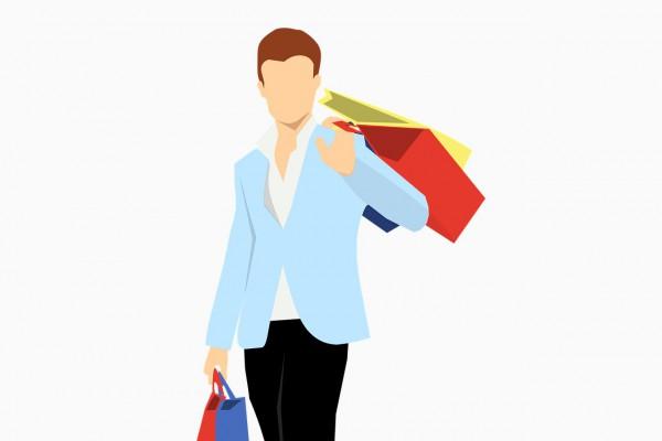 買い物をする顧客