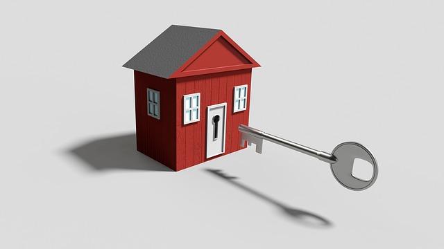 ホームセキュリティを備える家